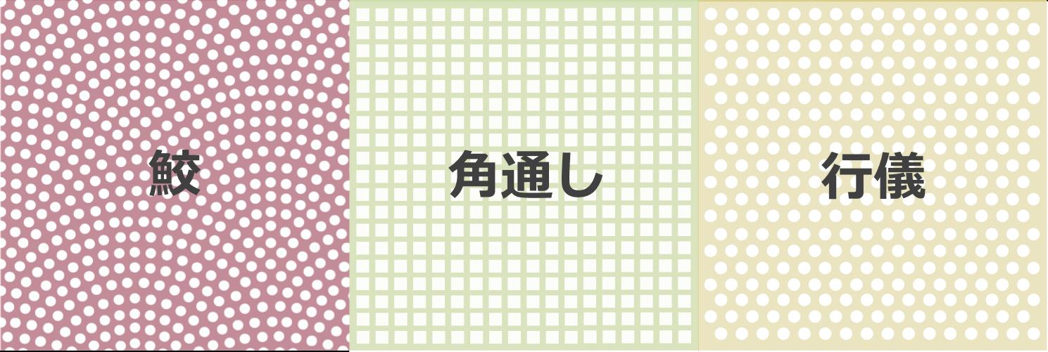 江戸小紋の柄3種