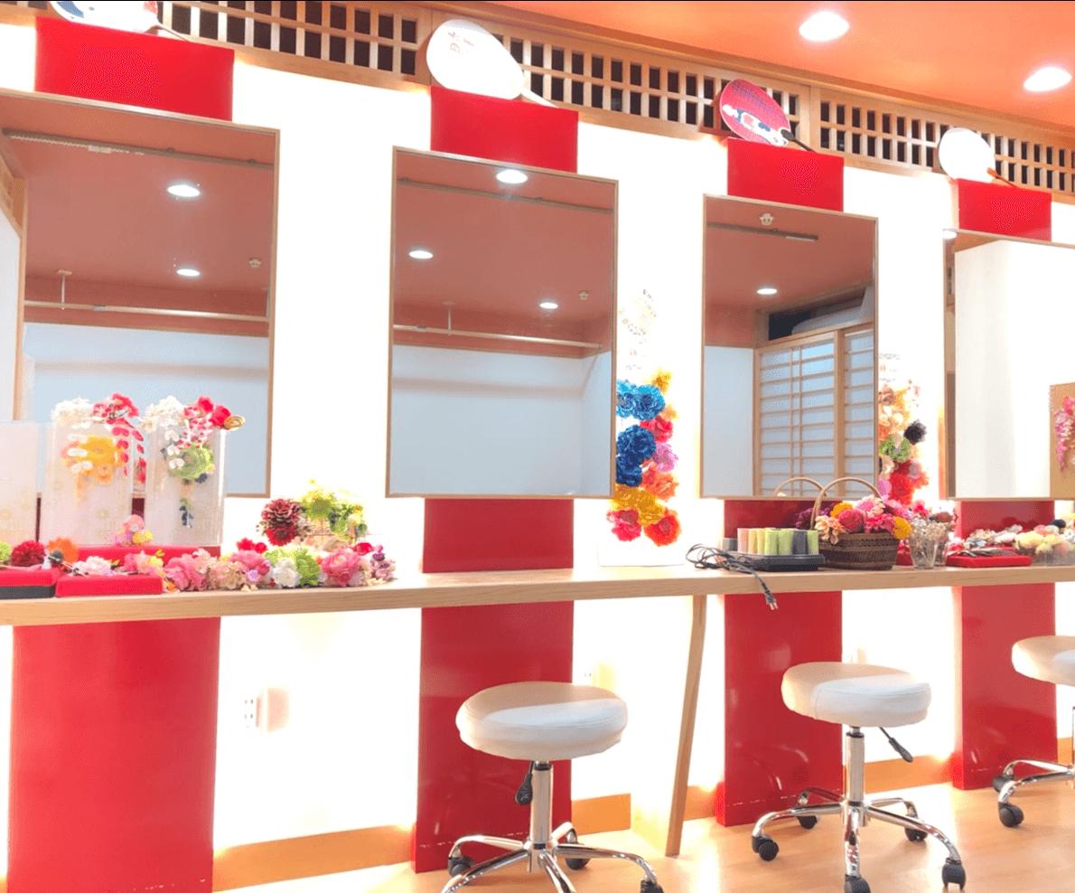 祇園京かがみでは着付け+ヘアセットでトータルコーディネートができる!